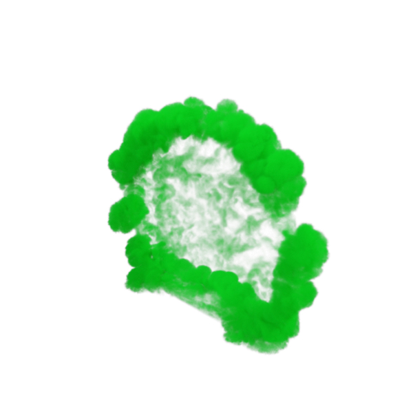 Green Smoke Blast PNG & PSD Images