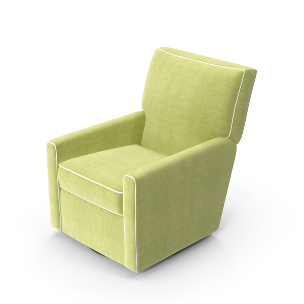 Arm Chair: Green Swivel Armchair PNG & PSD Images