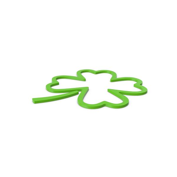 Green Symbol Clover PNG & PSD Images