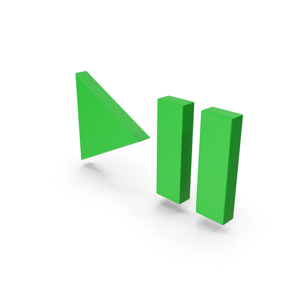 Pushbutton Switch: Green Symbol Play Pause Button PNG & PSD Images