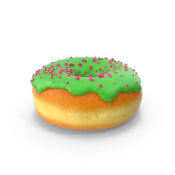 Green Tea Donut PNG & PSD Images