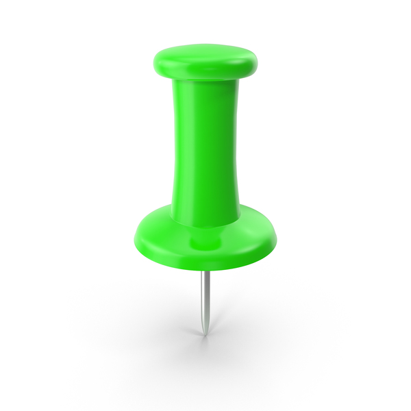 Green Thumbtack Object