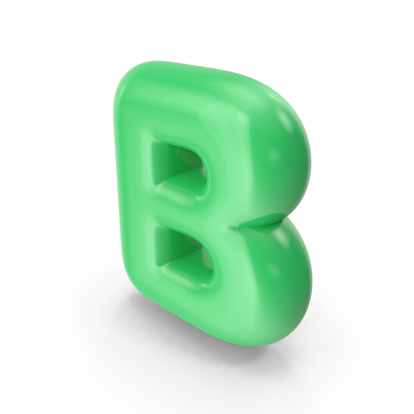 Language: Green Toon Balloon Letter B PNG & PSD Images