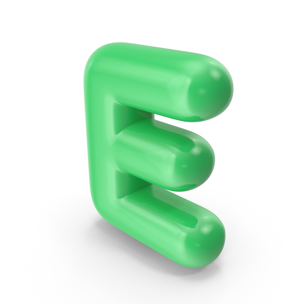 Language: Green Toon Balloon Letter E PNG & PSD Images