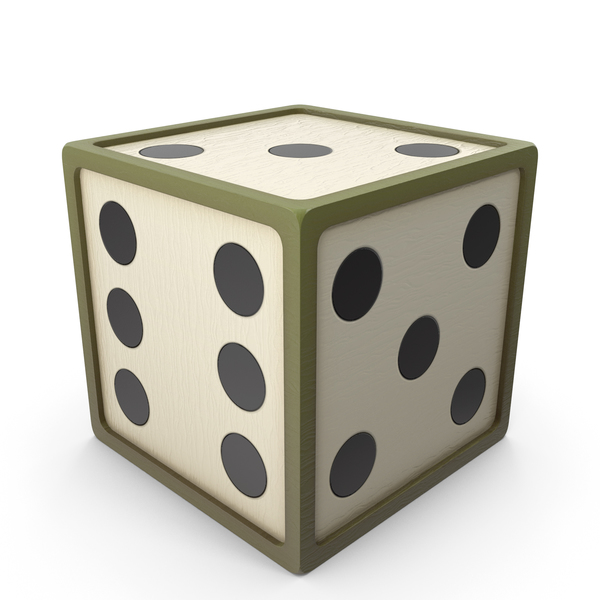 Dice: Green Toon Die PNG & PSD Images