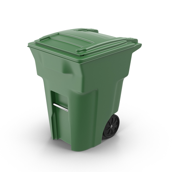 Green Trash Bin PNG & PSD Images