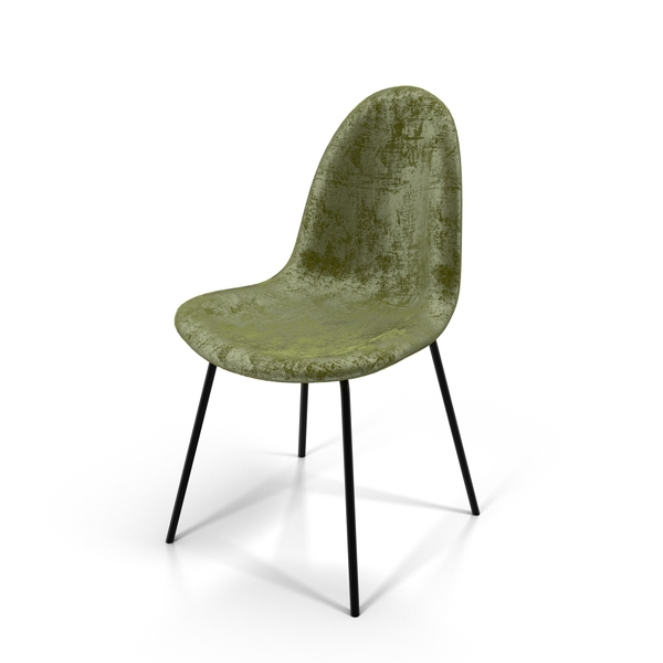 Green Velvet Chair Object
