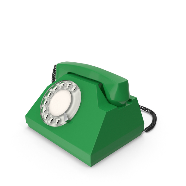 Green Vintage Phone PNG & PSD Images