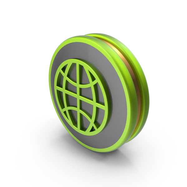 Green Web Icon PNG & PSD Images