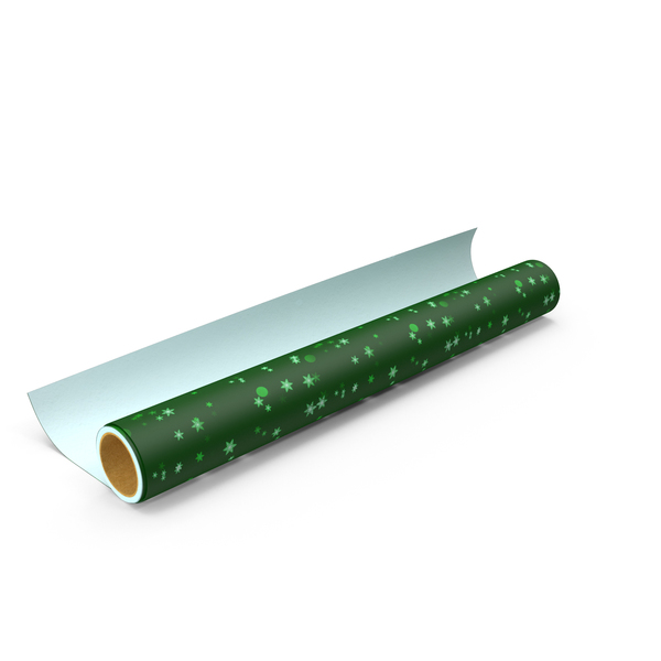 Green Wrapping Paper Roll PNG & PSD Images