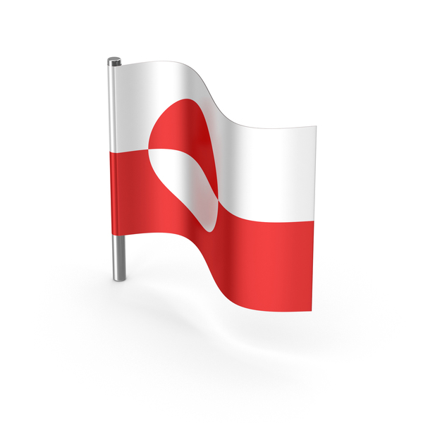 Greenland Cartoon Flag PNG & PSD Images