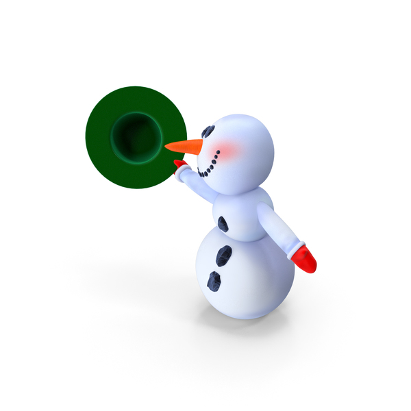 Greeting Cartoon Snowman PNG & PSD Images