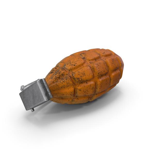 Industrial Equipment: Grenade Orange On Floor PNG & PSD Images