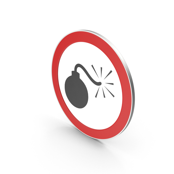 Traffic Signs: Grenade Sign PNG & PSD Images