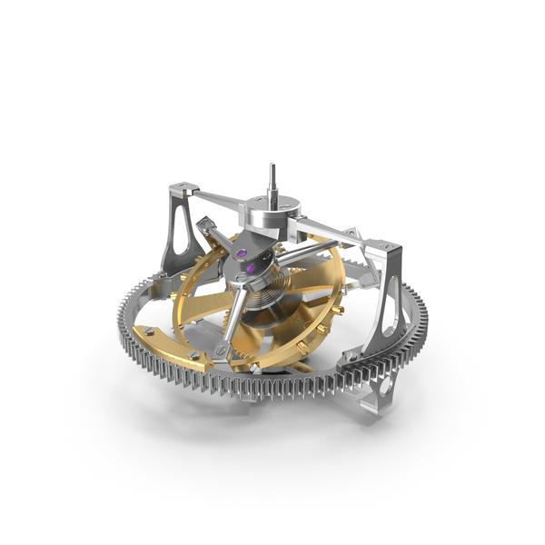 Greubel Forsey Double Tourbillon 30 Mechanism PNG & PSD Images