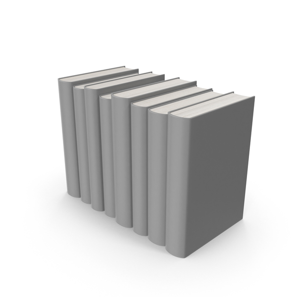 Grey Book Set PNG & PSD Images