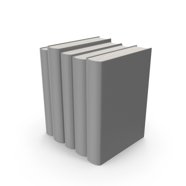 Grey Books Set PNG & PSD Images