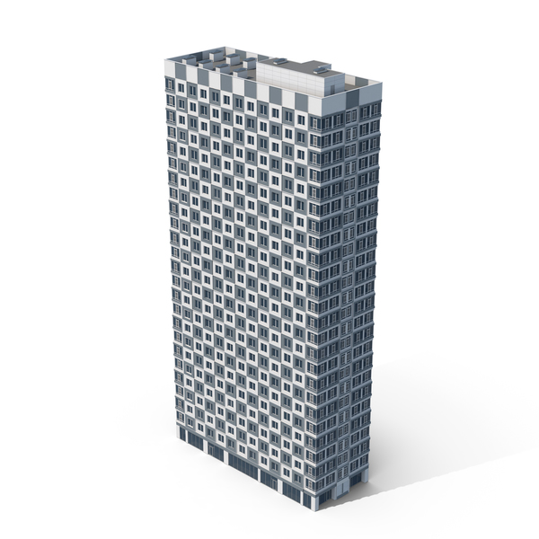 Grey Checker Building PNG & PSD Images