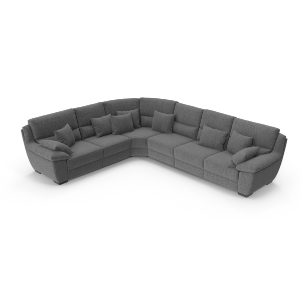 Grey Corner Sectional Sofa PNG & PSD Images