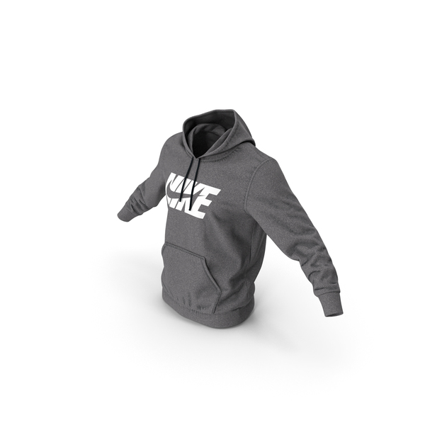 Grey Hoodie Nike Lowered Hood PNG & PSD Images