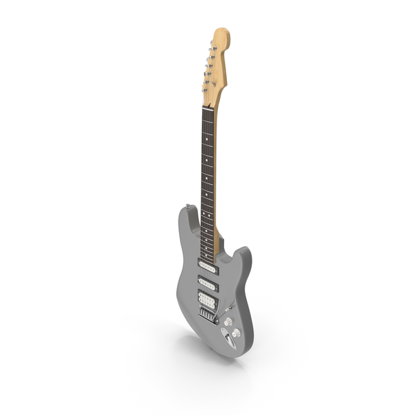 Grey HSS Electric Guitar PNG & PSD Images