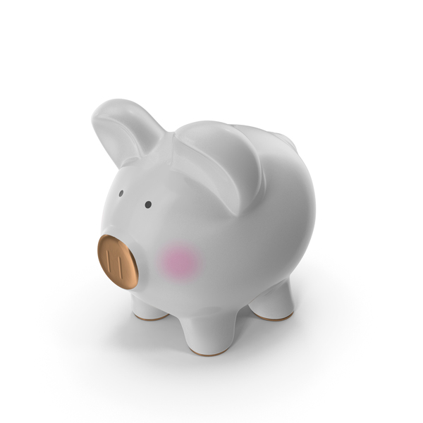 Grey Piggy Bank PNG & PSD Images