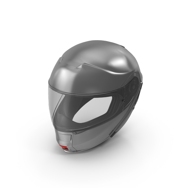 Grey Racing Helmet Object