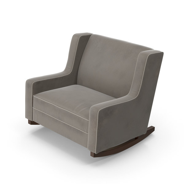 Grey Rocking Chair Object