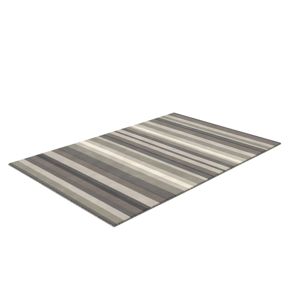 Grey Stripe Rug Rectangular PNG & PSD Images