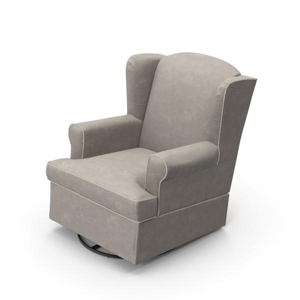 Grey Swivel Chair Object