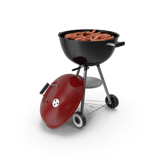 Kettle: Grilling Sausages on Grill PNG & PSD Images