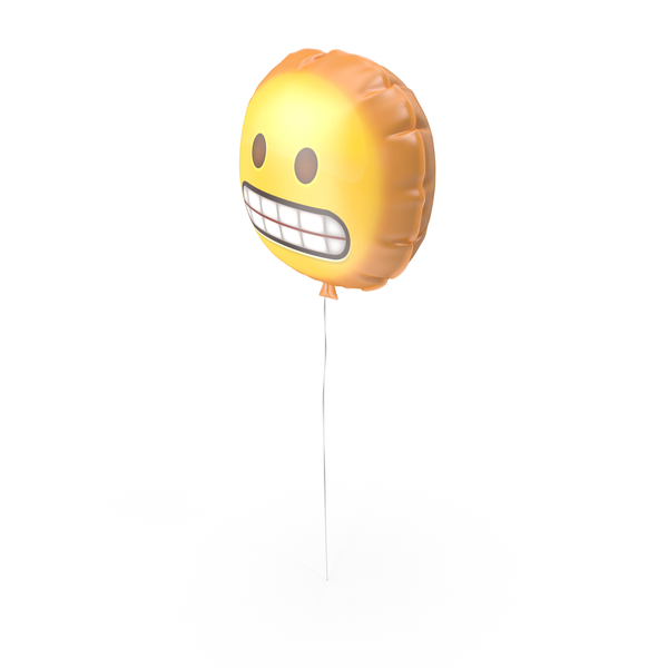 Grimacing Face Emoji Balloon PNG & PSD Images