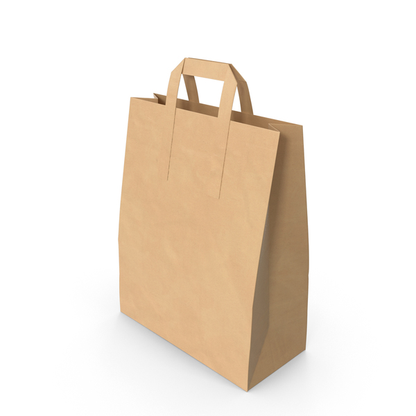 Grocery Bag with Paper Handle Mockup Object