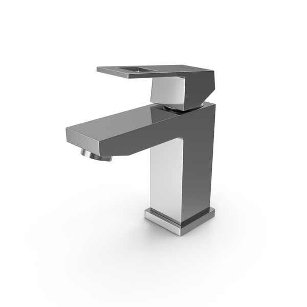 Faucet: Grohe 23131000 Eurocube Single Handle Tap PNG & PSD Images