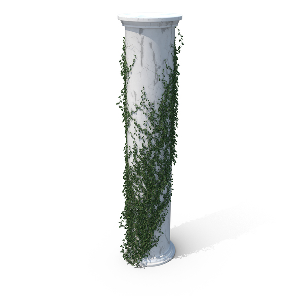 Column With: Growing Ivy PNG & PSD Images
