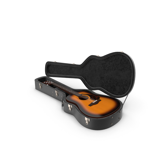 Acoustic: Guitar in a case PNG & PSD Images