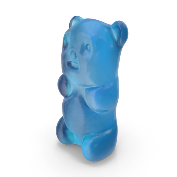 Gummy Bear Candy Blue PNG & PSD Images