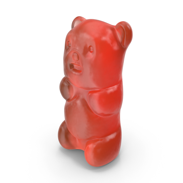 Gummy Bear Candy Red PNG & PSD Images