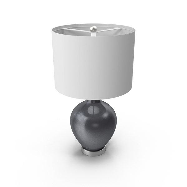 Gunmetal Metallic Ovo Table Lamp PNG & PSD Images