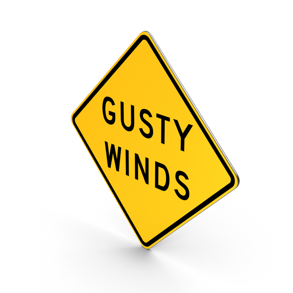 Gusty Winds Wisconsin Road Sign PNG & PSD Images