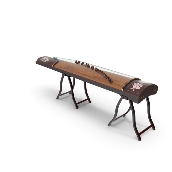 Stringed: Guzheng String Instrument Chinese Zither PNG & PSD Images
