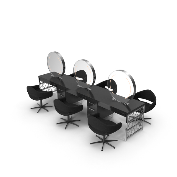 Salon Chair: Hair Table Chrome PNG & PSD Images