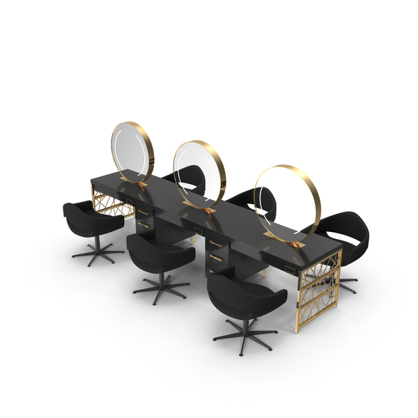 Salon Chair: Hair Table Gold PNG & PSD Images