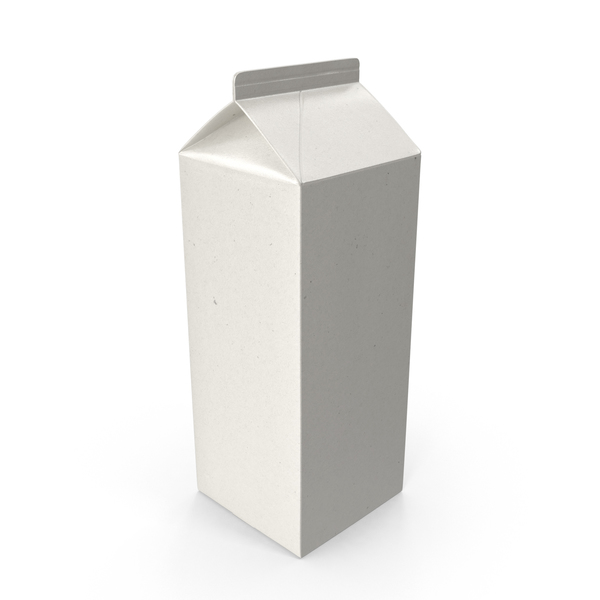 Milk: Half Gallon Carton PNG & PSD Images