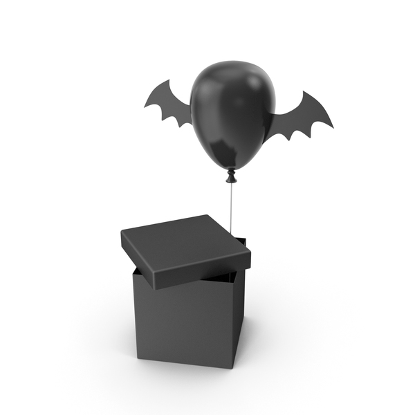 Halloween Balloon Gift Box PNG & PSD Images