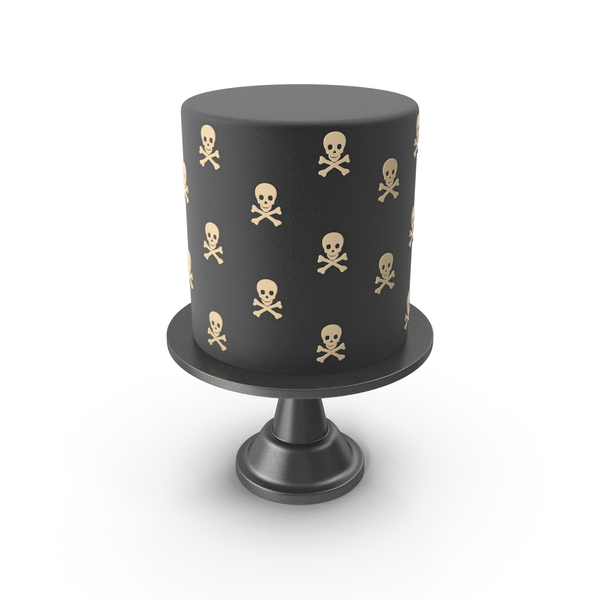 Halloween Cake with Skulls and Crossdones PNG & PSD Images