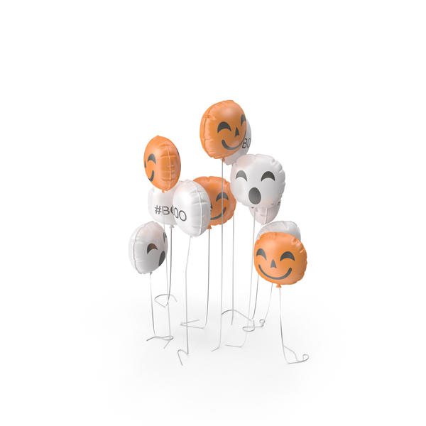Halloween Emoji Balloon Set PNG & PSD Images