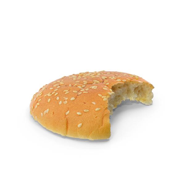 Hamburger Bun Top Bitten PNG & PSD Images