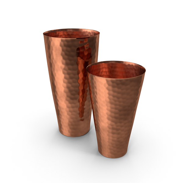 Hammered Copper Cocktail Shaker PNG & PSD Images