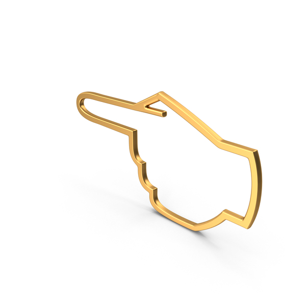 Hand Cursor Gold PNG & PSD Images